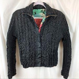 UBU Reversible Crinkle Puffy Asian Style Jacket